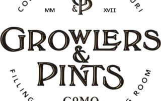 Growlers and Pints CoMo Columbia Missouri Filling Station and Tasting Room Logo