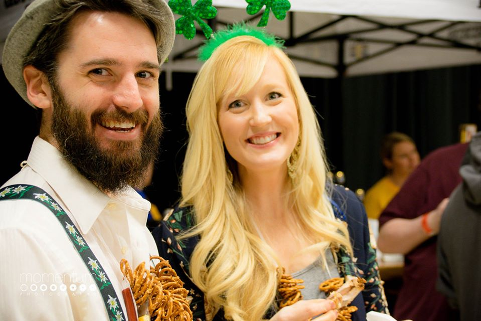 Missouri Beer Festival MBF Pretzel Couple Mo Craft Beers Event in Columbia